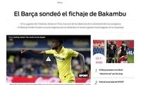 西媒:巴萨欲购巴坎布遭国安拒绝 欲通过球员施压