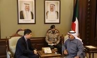 驻科威特大使王镝会见科威特第一副首相兼国防大臣纳赛尔