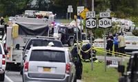 美国纽约州发生两车相撞事故 至少20人死亡