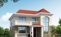 造价18万的两栋小别墅,带走廊设计,为农村生活量身定制