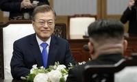 韩媒称韩朝首脑谈了半岛无核化,文在寅:有望为世界献上大礼