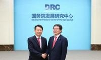 隆国强副主任会见韩国超党派国会议员代表团