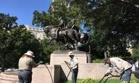 种族矛盾继续!美国南北战争名将雕像被喷纳粹字眼