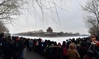 京城迎来今冬第三场雪