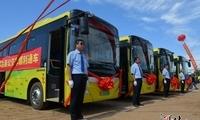 70辆山村公交发车!邢台县举行全域公交一体化通车仪式