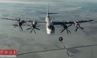 俄轰炸机巡航遭日机跟踪 苏-35S进行编队护航