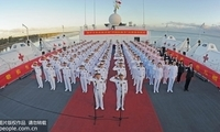 """和平方舟举行""""中国医师节""""宣誓签名活动"""