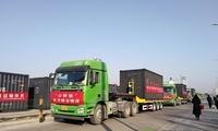 """3000吨建筑砂石搭乘专列 """"公转铁""""进京绿色供应链步步加速"""