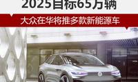 2025目标65万辆 大众在华将推多款新能源车